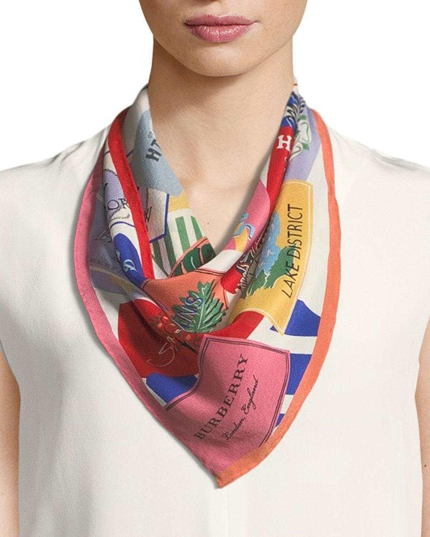 Ticket Stub print scarf - Red Burberry HiRRZDkp