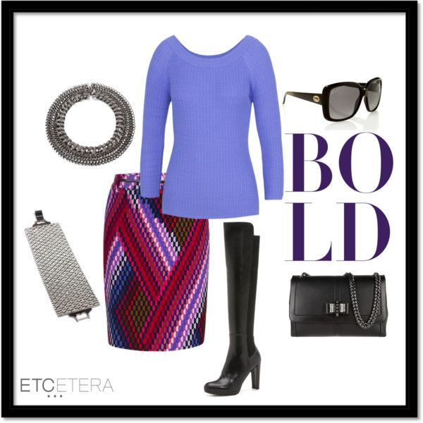 """""""BOLD: Xanadu skirt and Quinn sweater 