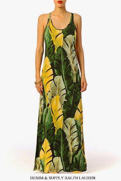 Robe longue Banana Denim and Supply by Ralph Lauren, un vêtement original et sublime !