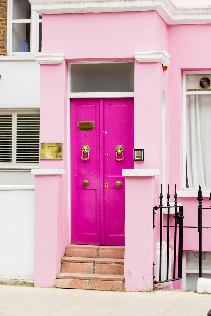Notting Hill, London | Facades, Hot pink and Met