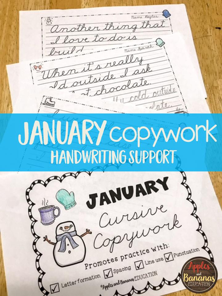 February Cursive Copywork - Cursive Handwriting Practice | Pinterest ...