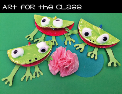 Art for the Class Frog Paper Plate Craft & Art for the Class: Frog Paper Plate Craft | Frosch | Pinterest ...