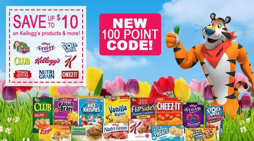 New 100 Pt Kelloggs Family Rewards Bonus Code Free Printable