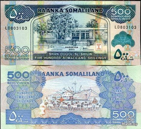 Somaliland 1000 shillings UNC 2011 P-20