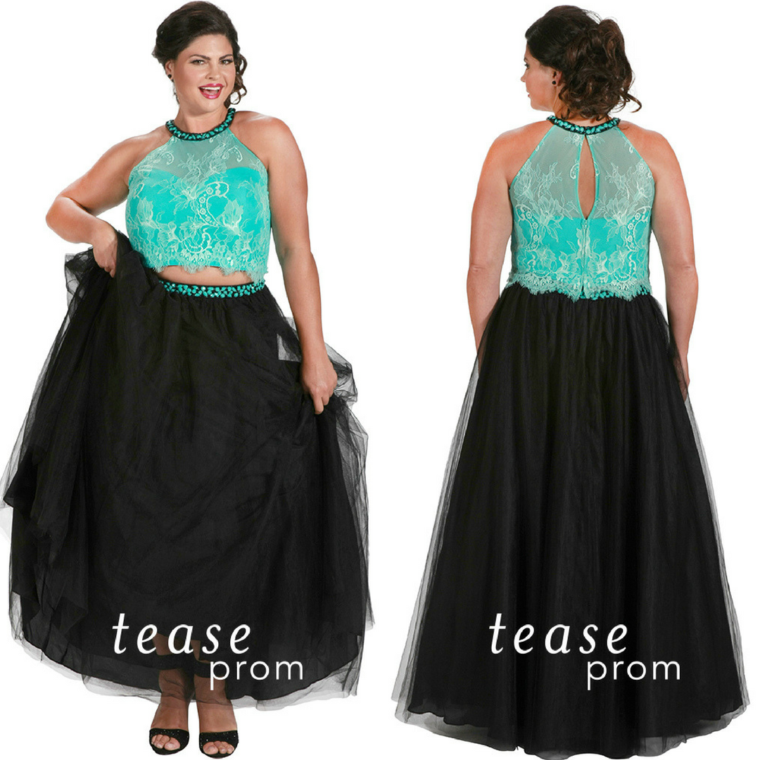 Our Plus Size Two Piece Prom Dress Comes In Three Accent Colors We Love This Style Because You Can Eas Plus Size Prom Plus Size Prom Dresses Piece Prom Dress [ 1080 x 1080 Pixel ]