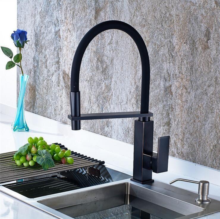 Sensational Oil Rubbed Bronze Kitchen Faucet Black Hot Cold Kitchen Sink Download Free Architecture Designs Sospemadebymaigaardcom