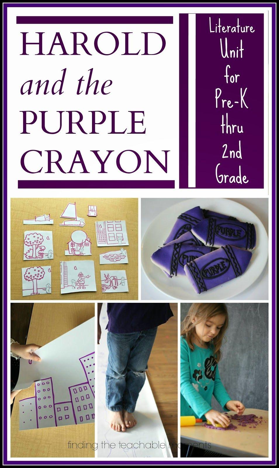Harold and the purple crayon activities preschool books
