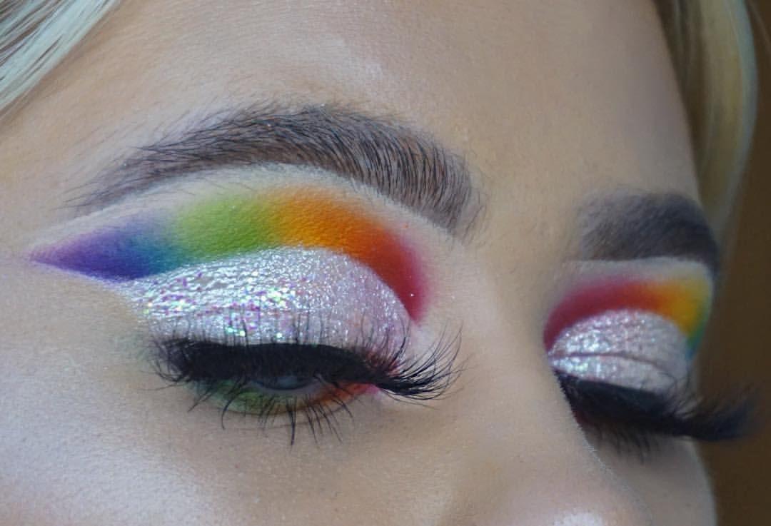 514fcaa885ed4 gay pride rainbow eyeshadow lesbian youtuber LGBT makeup @ellieaddis ...