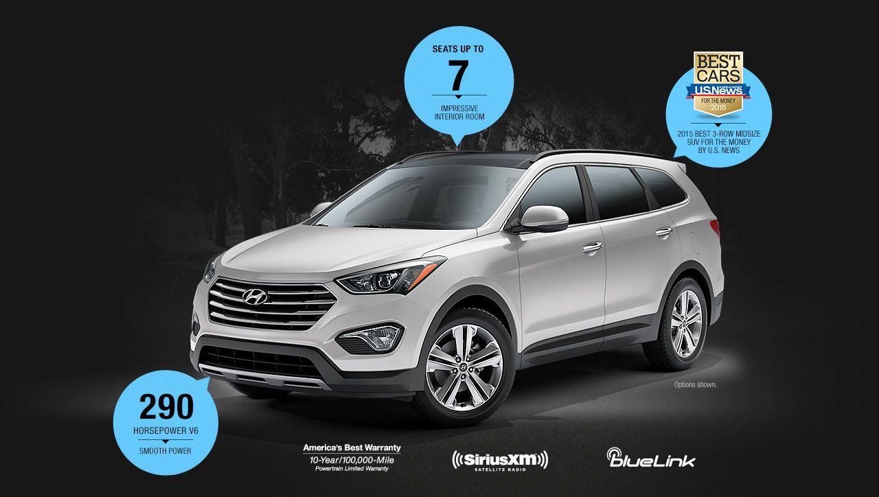 2016 Hyundai Santa Fe Mid Size Suv Best Midsize Suv Best Compact Suv Suv Comparison