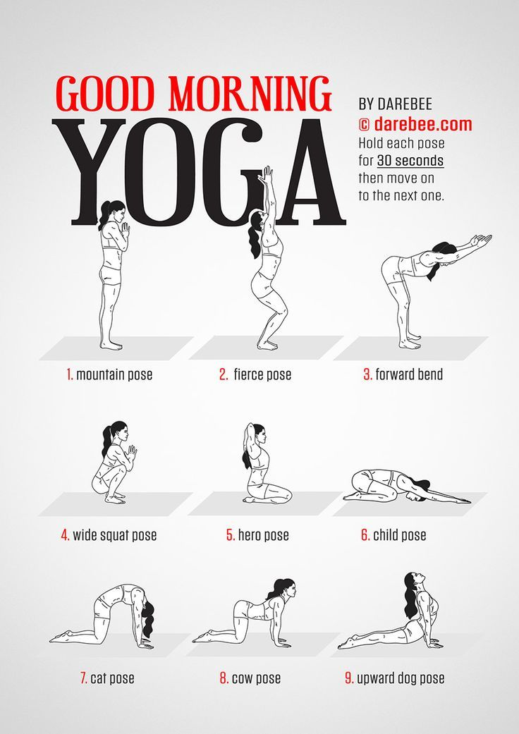 Good Morning Yoga workout by #Darebee #workoutwednesday #workout #fitness #morningroutine
