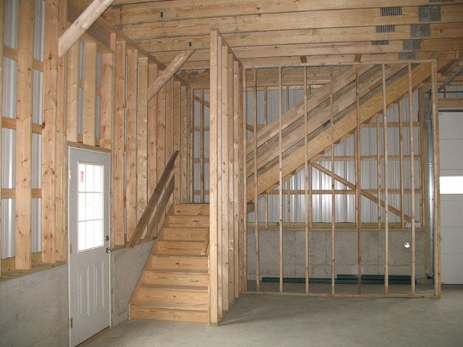Stick built buildings photo gallery heritage buildings for Garage loft stairs