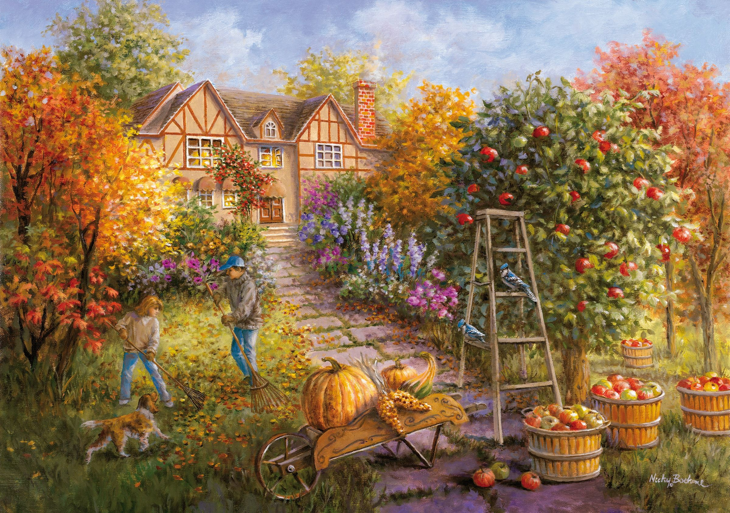 1000 Pieces Jigsaw Puzzle On The Afternoon Of The Woods by Nicky Boehme