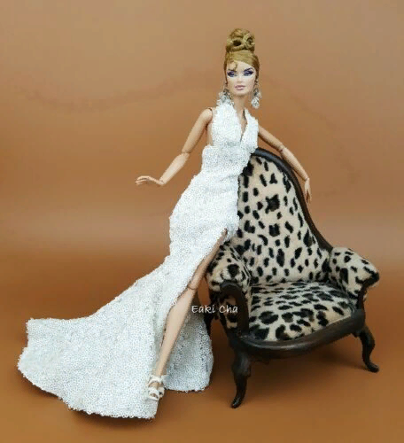 Wedding White Lace Gown Evening Dress Outfit Barbie Silkstone Fashion Royalty FR