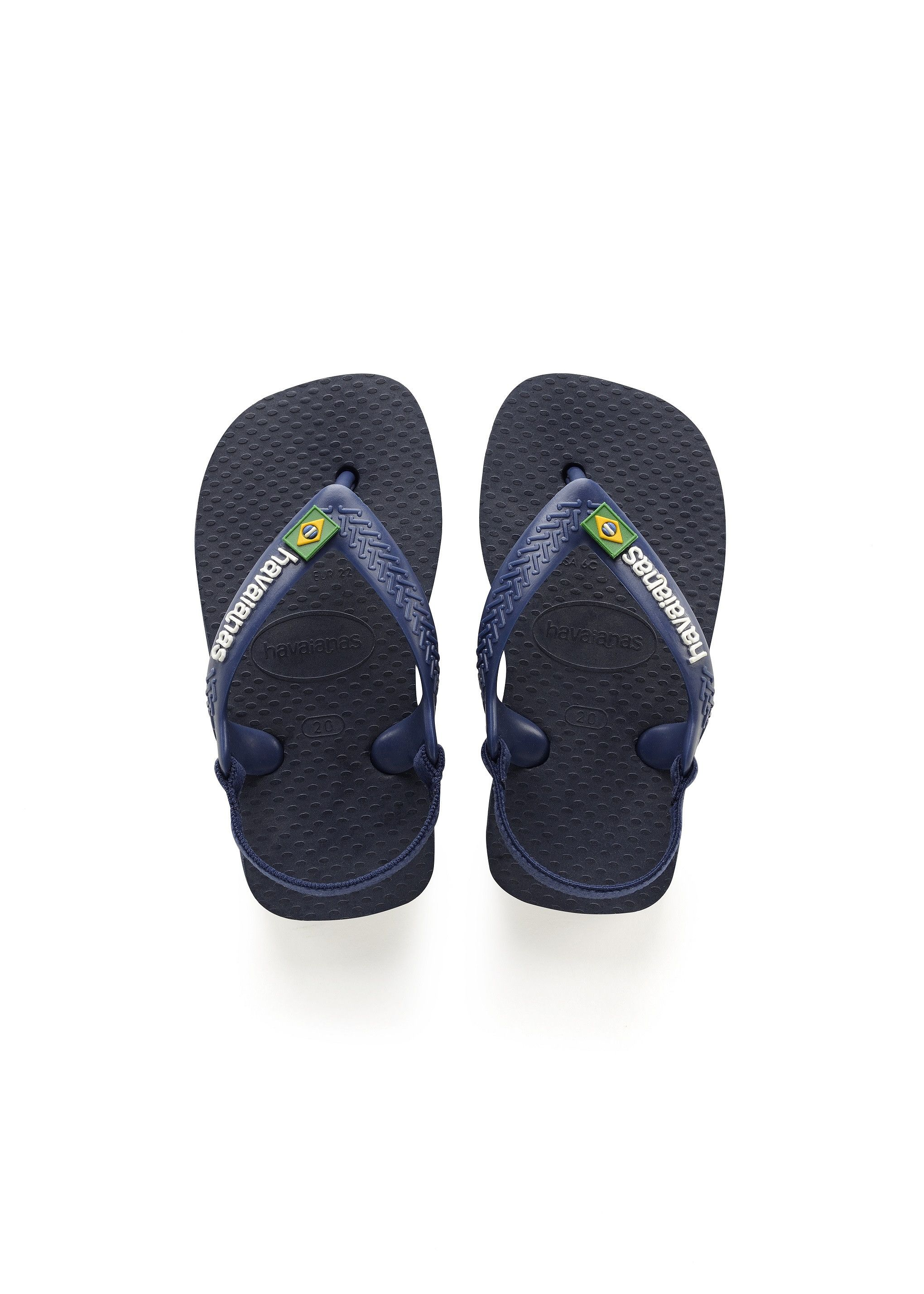 2f51b39049983d Havaianas Baby Brazil Logo Sandal Navy Blue Citrus Yellow Price From  14