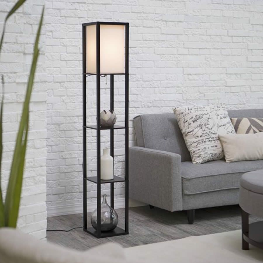 Walking Into a Room and Noticing an Elegant Floor Lamp
