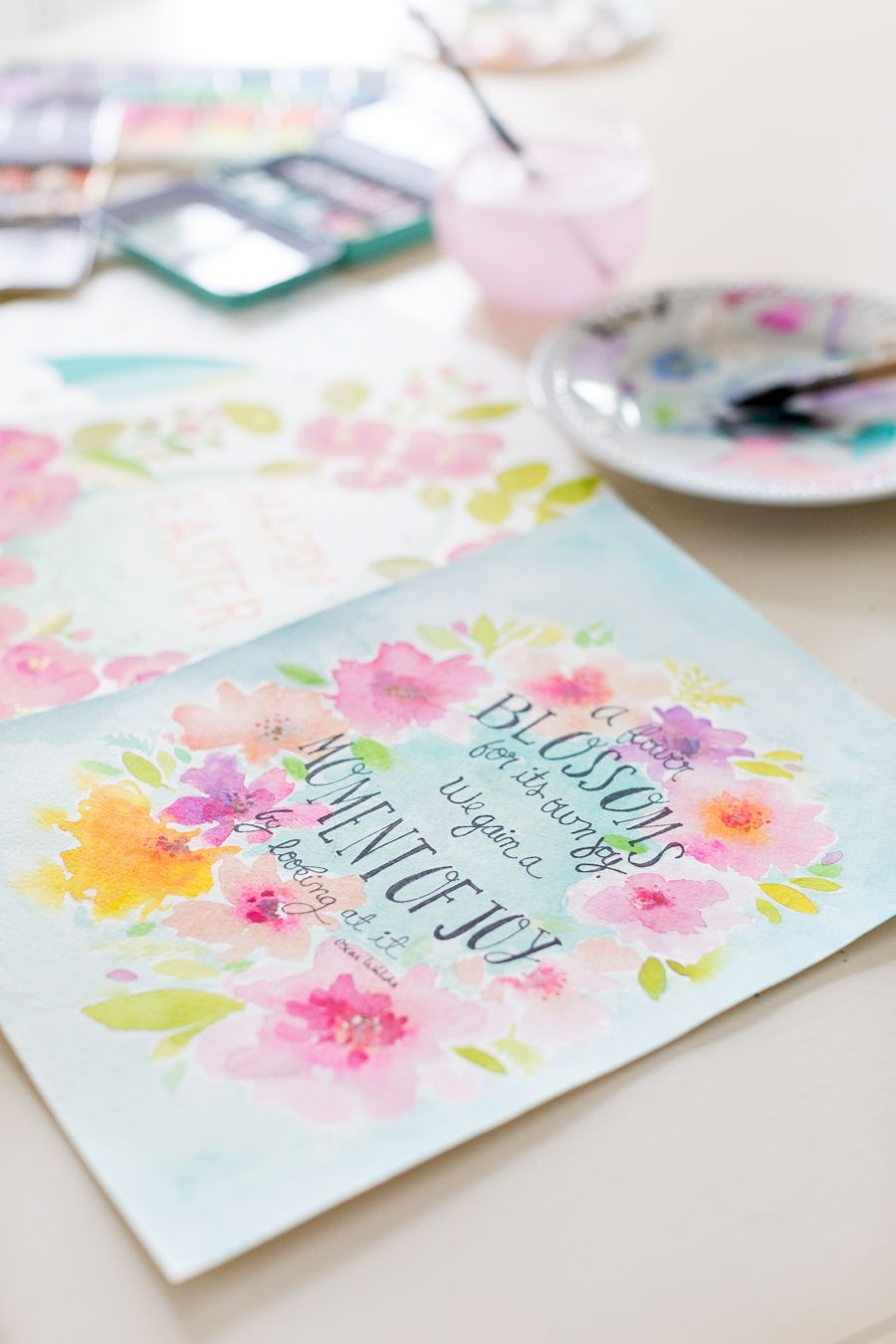 Free Watercolor Spring Printable And Two Free Months Of Unlimited
