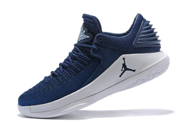 75efb7ecd66 2018 Air Jordan 32 Low Midnight Navy White Shoes For Sale-2