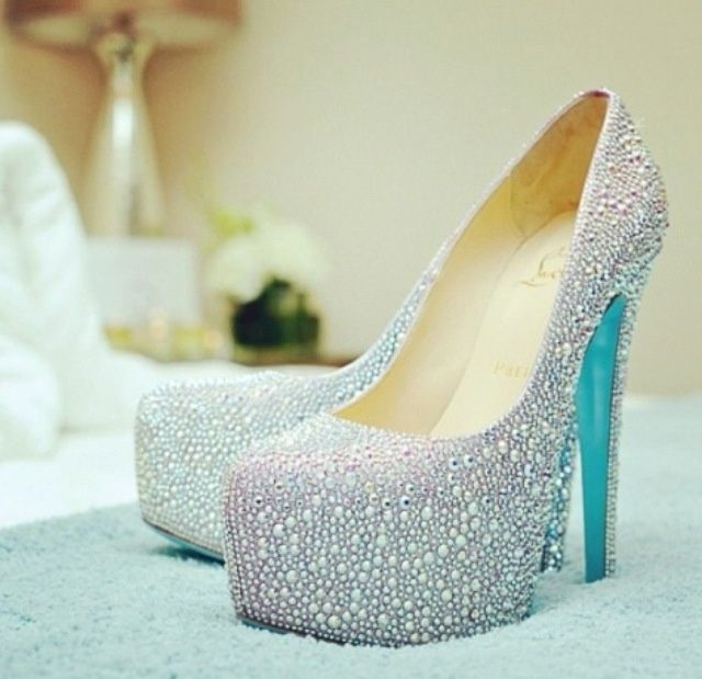 Superb Christian Louboutin Blue Sole Wedding Shoes   Google Search