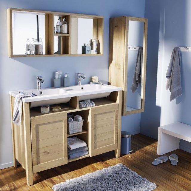 meuble salle de bain bois casto