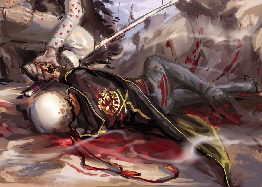 On the battle field - Trafalgar D. Water Law and Donquixote Rocinante (Corazon) (Corasan, Cora-san) One Piece