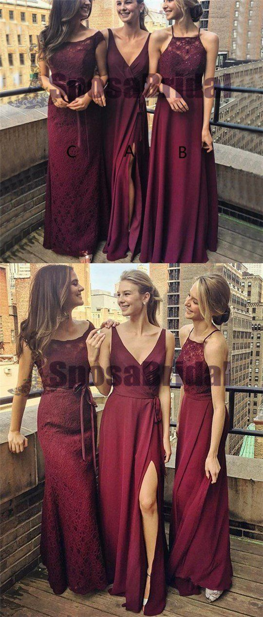 e02394dc679a Dark Burgundy Mismatched Chiffon Cheap Soft Custom Most Popular Bridesmaid  Dresses, PD0505 The dress are fully lined, 4 bones in the bodice, ...