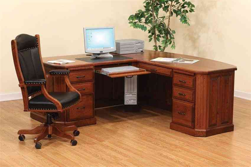 Spruce Up Your Workspace With An Wooden Home Office Desk Real Wood Office Furniture Furniture Design Ideas Solid Wo Wood Corner Desk Pretty House Corner Desk