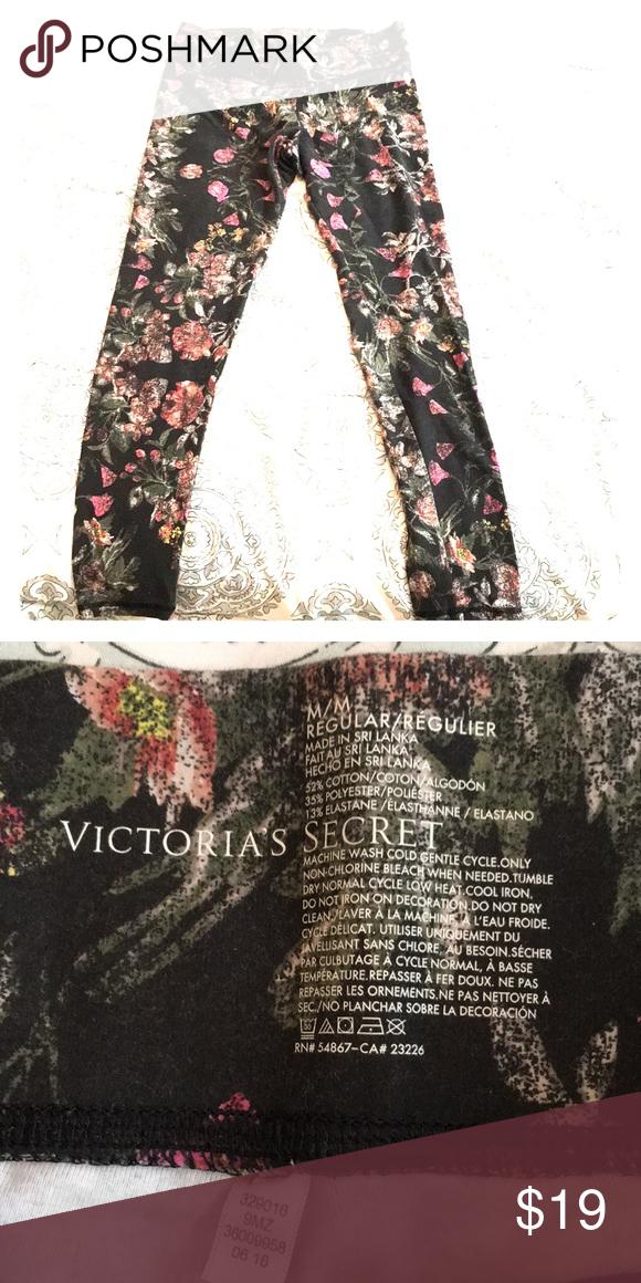 ff08cd2e1359 Victoria's Secret Floral Print Leggings | My Posh Picks | Pinterest ...