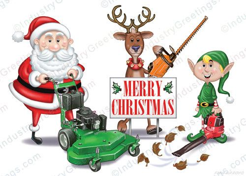 sw01393 landscape crew christmas card is a great holiday