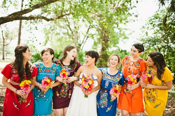 mexican wedding bridesmaid dresses