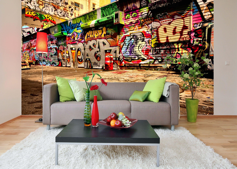 Removable Wallpaper Mural Peel Stick Graffiti Self Adhesive Wallpaper In 2021 Removable Wallpaper Mural Wallpaper Interior Wall Design