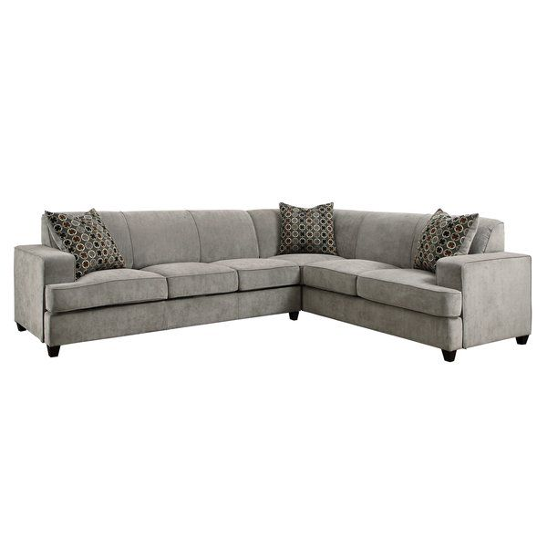 Caswell 114 Right Hand Facing Sleeper Sectional With Images Sectional Sleeper Sofa Grey Sectional Sofa Sectional Sofa Couch