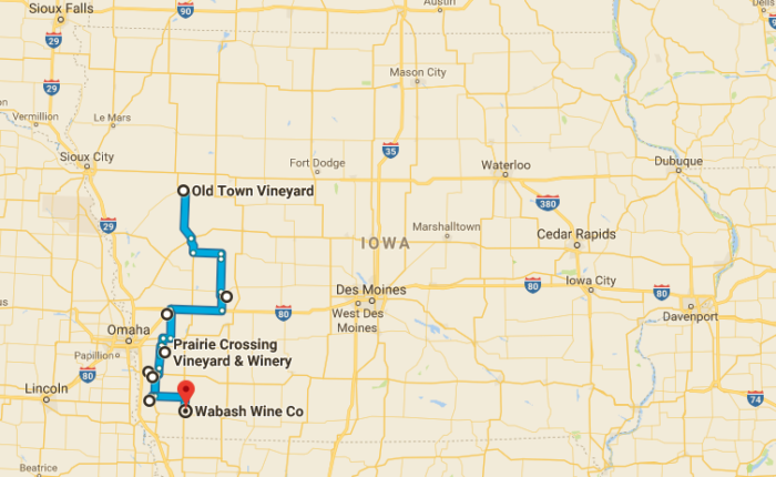 wineries in iowa map This Beautiful Trail Will Take You To The 8 Best Wineries In Iowa wineries in iowa map