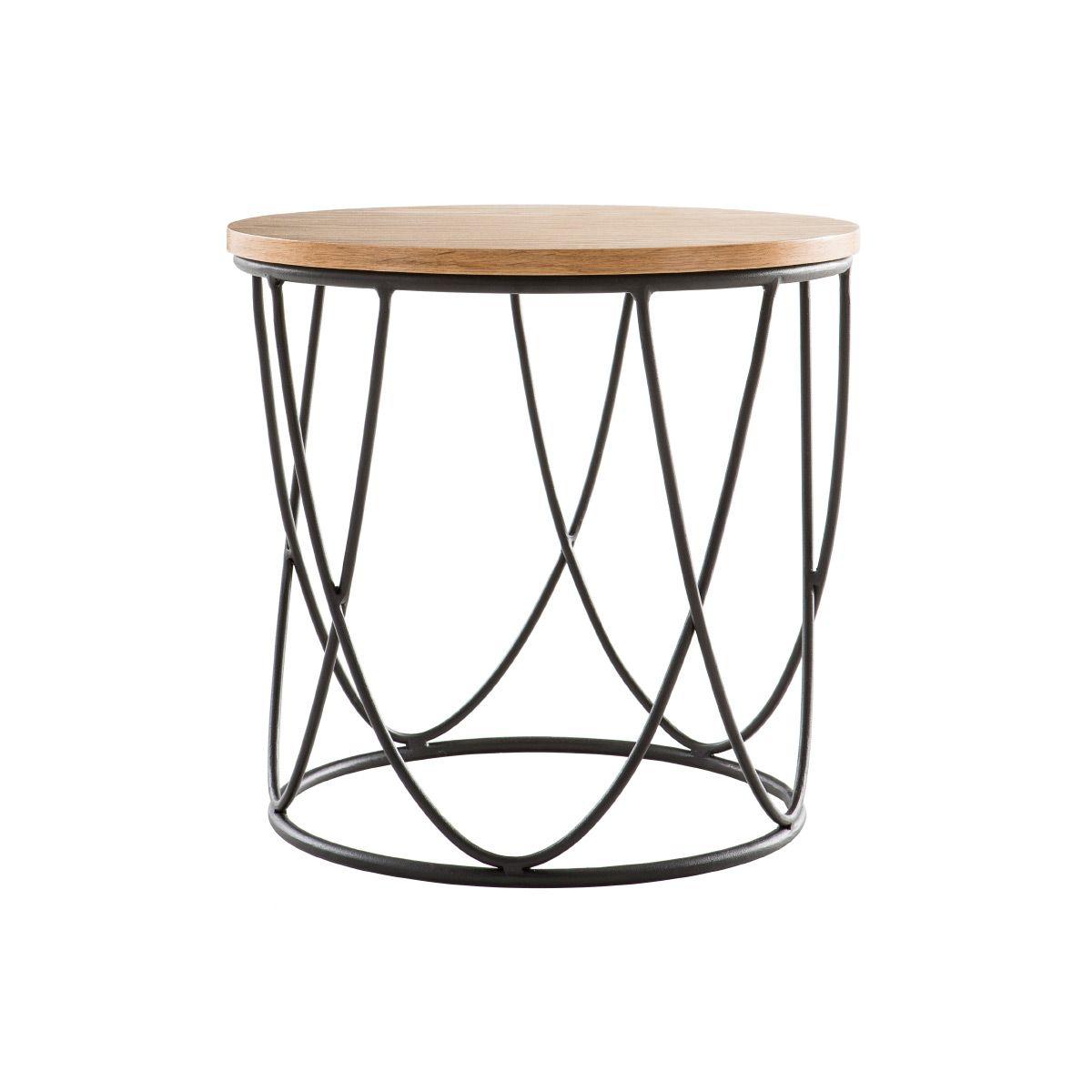 Table D Appoint Bois Metal L42 X H40 Cm Lace En 2020 Table D Appoint Bois Metal Table Metal