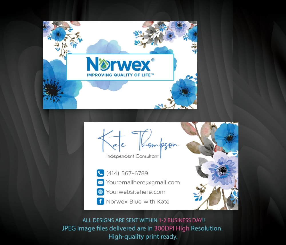 Norwex Business Cards Personalized Norwex Template Nr15 In 2020 Custom Business Cards Cleaning Business Cards Personal Business Cards