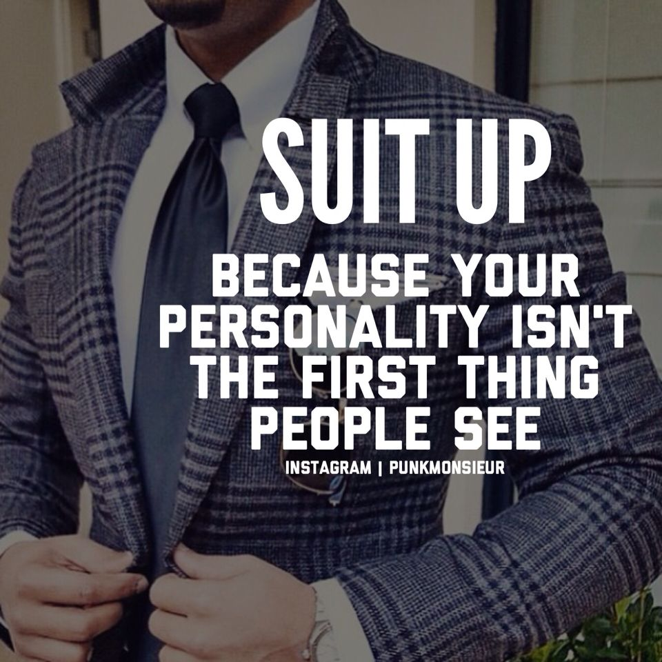 Words ..~Something about a man in a suit! ;,)