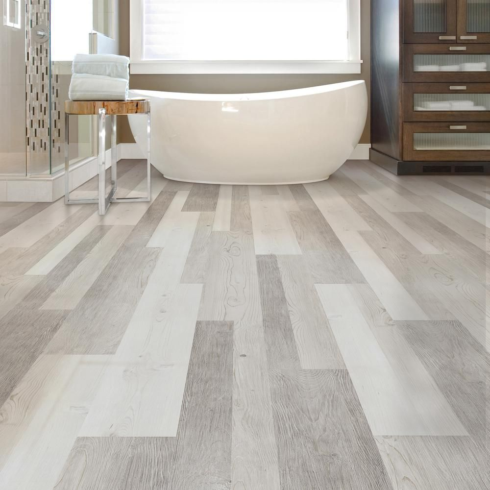 Plastic Flooring For Home: LifeProof Frosted Oak Multi-Width X 47.6 In. Luxury Vinyl