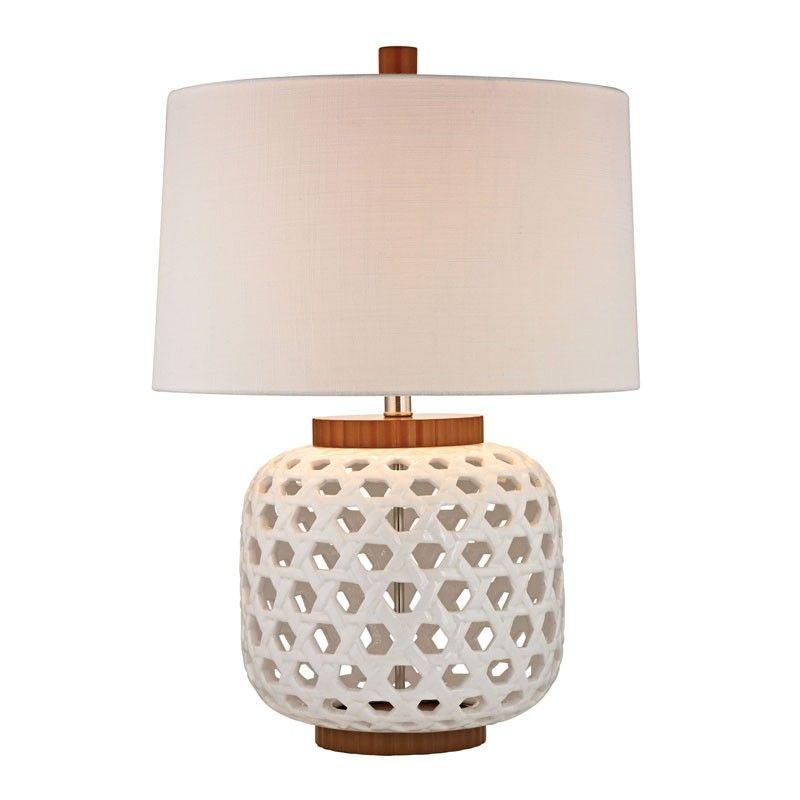 Gracelynn Table Lamp With Images Table Lamp Wood Ceramic Lamp