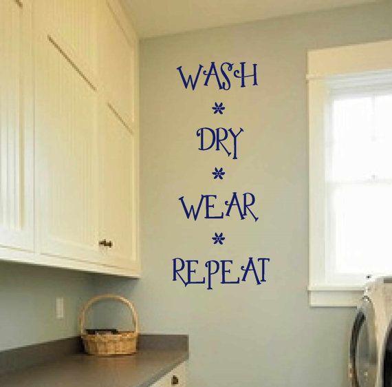 Laundry room decal - wall art - matt vinyl decals - laundry sign ...