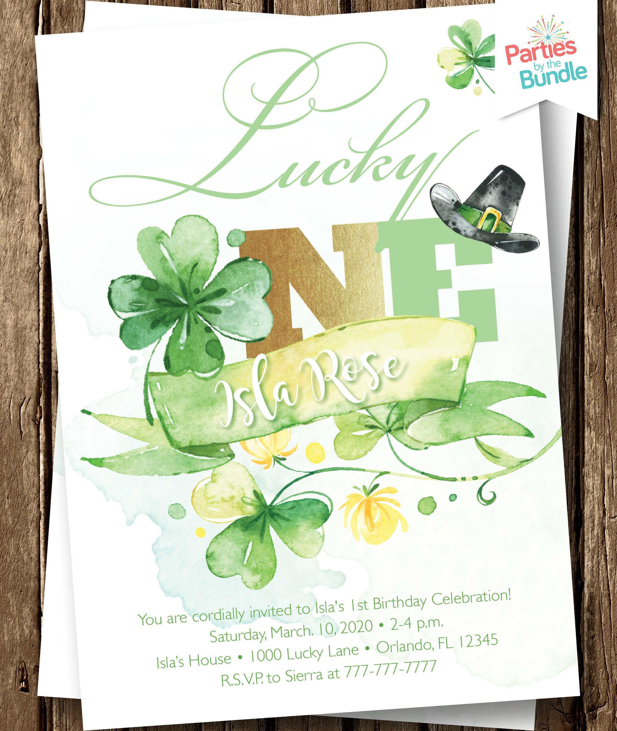 Lucky One First Birthday Invite St Patrick S Day Birthday Etsy In 2020 Birthday Invitations First Birthday Invitations First Birthdays