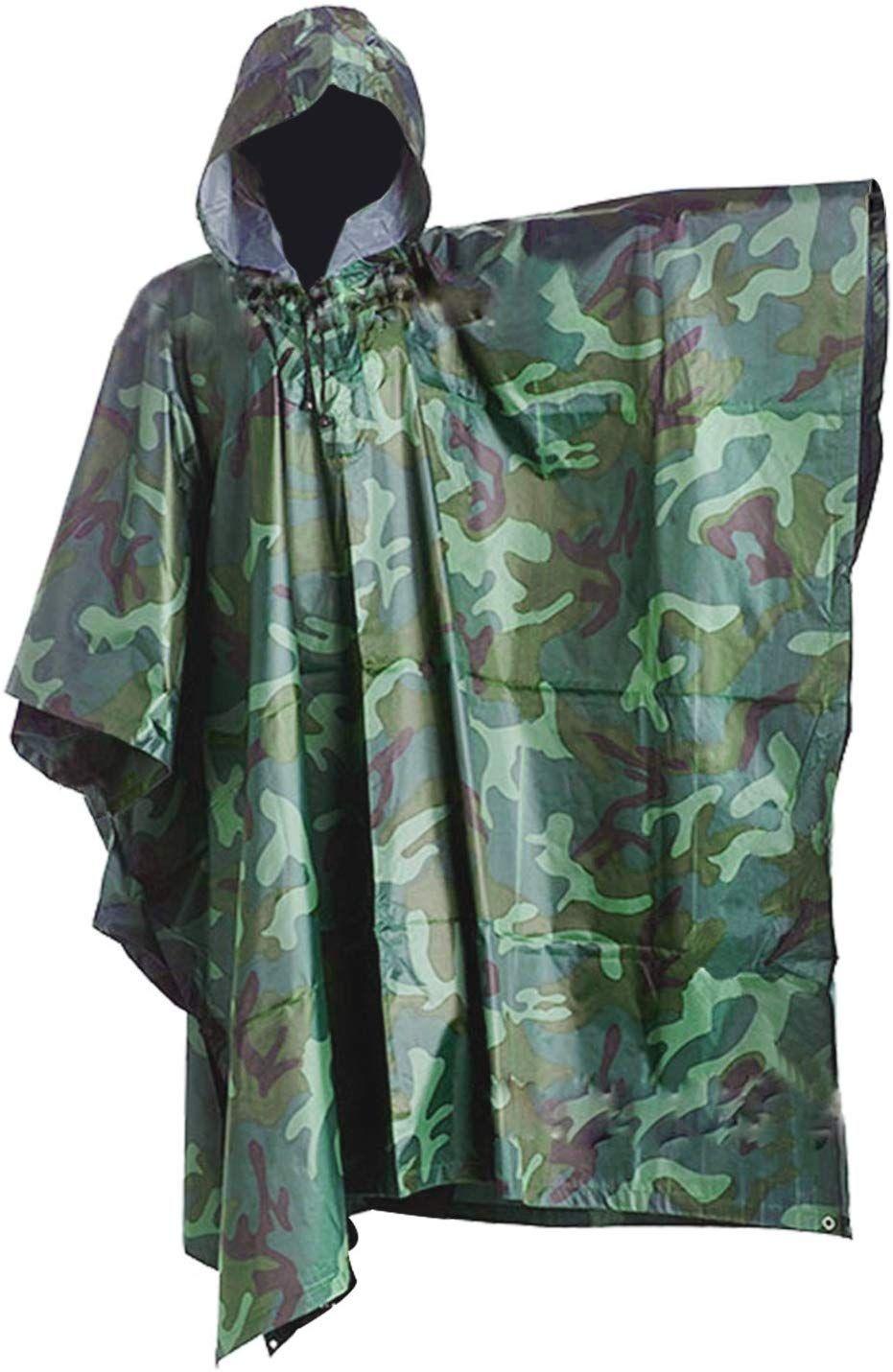 Lluvia Color DigHealth Impermeable de Militar by Poncho Camuflaje dUAqw06dx