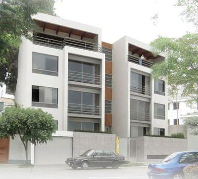 Fotos de fachadas de edificios de 4 y 5 pisos para for Planos de apartamentos modernos