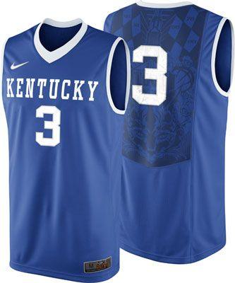 2890e527094 Kentucky Wildcats Royal Nike Youth  3 Replica 2012-2013 Basketball Jersey