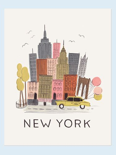 New York print (Rifle Paper Co., via Papermash)
