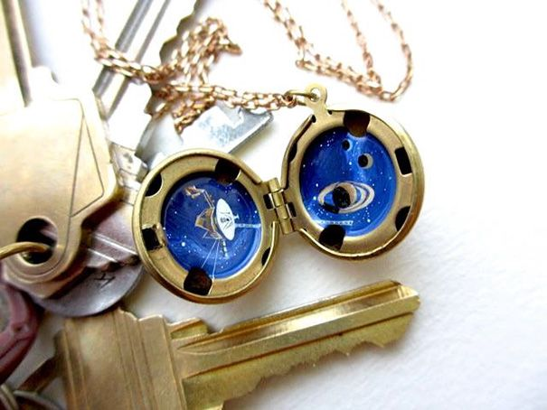 Miniature Astronomy Lockets That Hide The Universe Inside