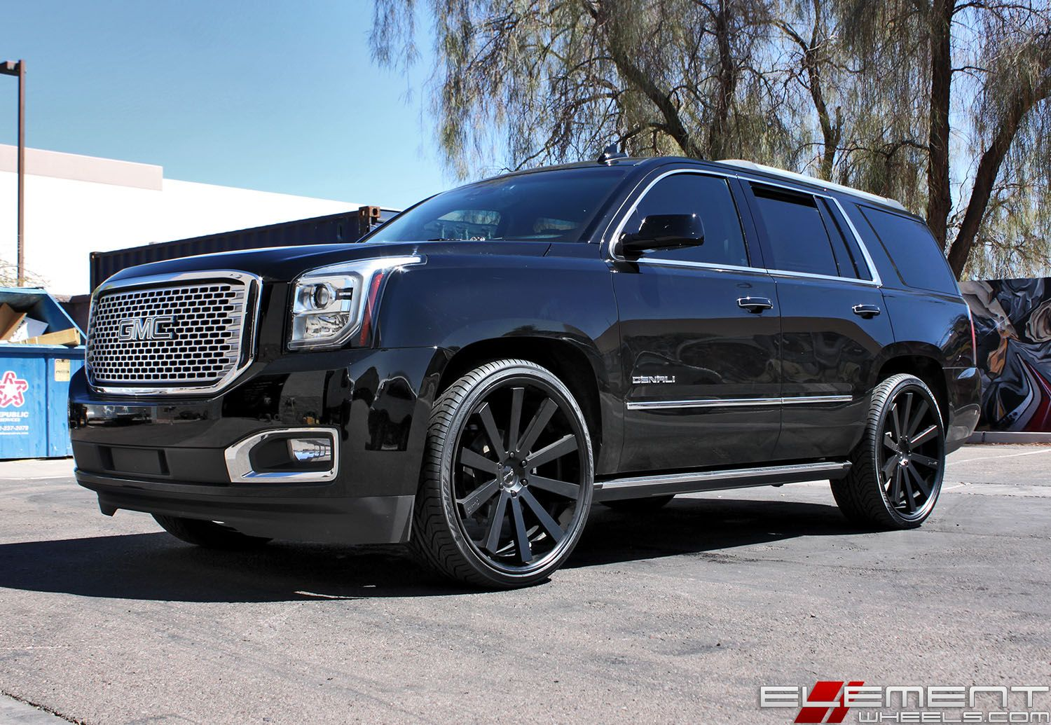 Black Yukon Denali Custom Wheels Chrome Grille Gmc Suv Lexus