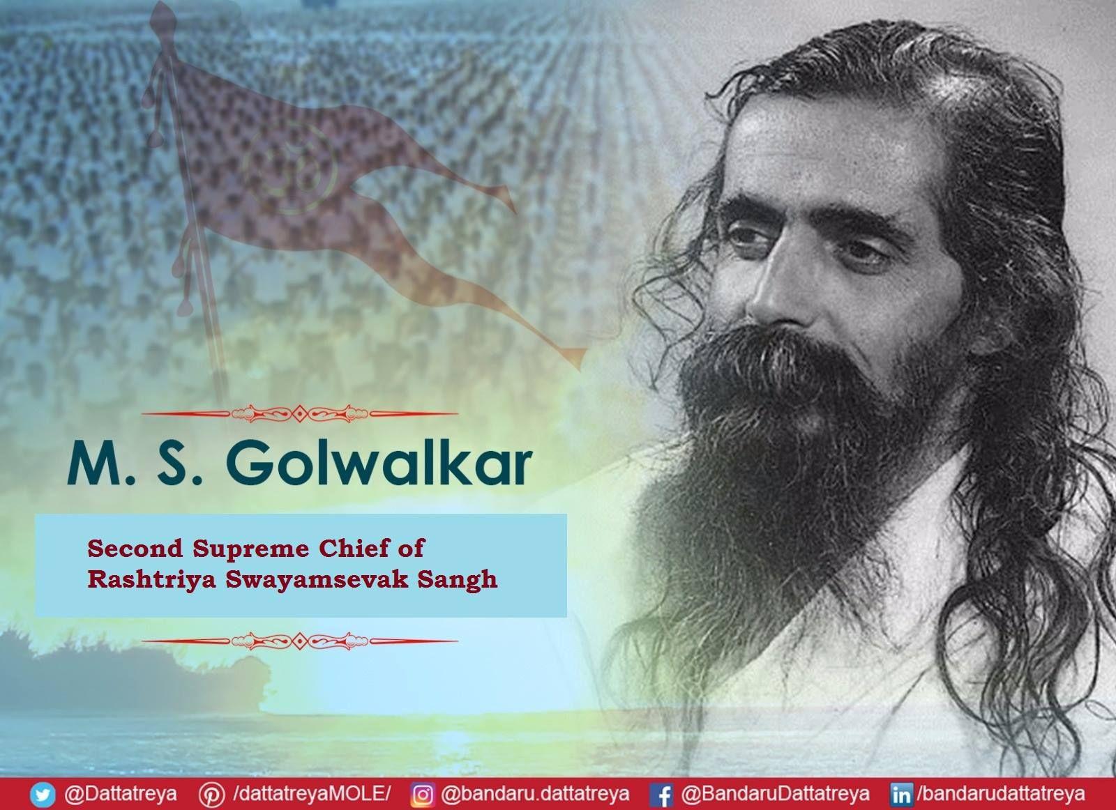 Tributes To Guruji Ji Shri Madhav Sadashiv Golwalkar Ji The Second Sarsanghchalak Of The Rashtriya Swayamsevak Sangh On His Birth An Photo Tribute Indian Flag
