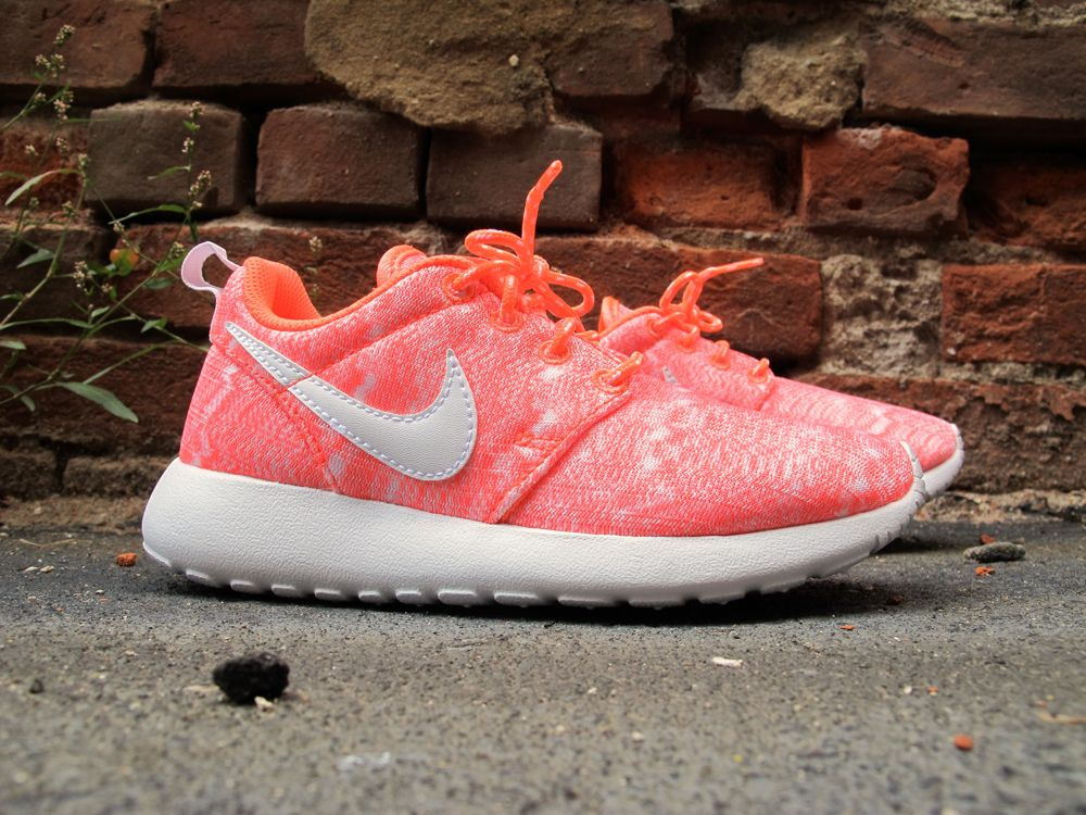 Kids Nike Roshe Run Bright Mango