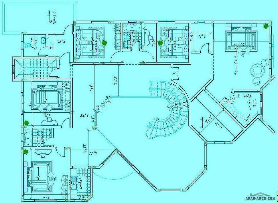 مخطط فيلا خليجى طابقين 20 30 متر Model House Plan Home Map Design Architectural House Plans