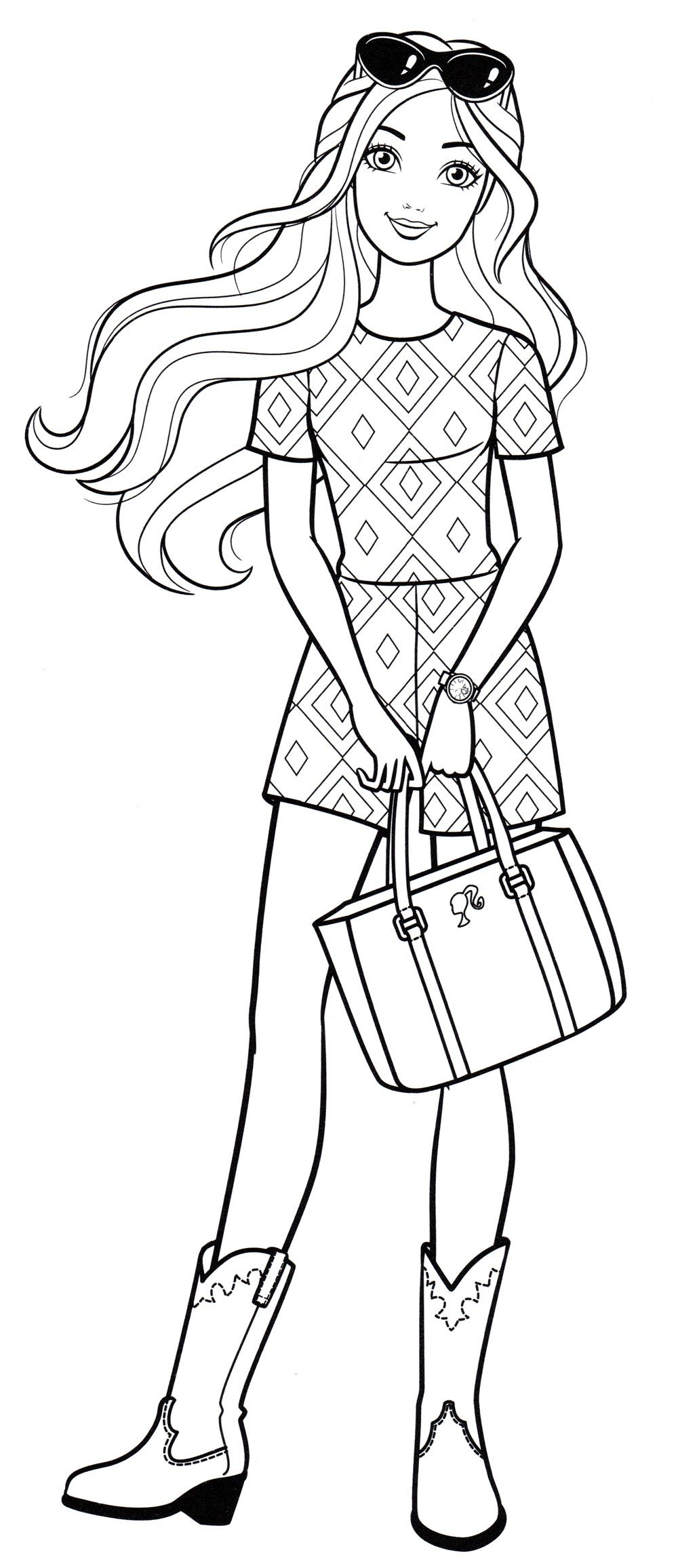 Pin By Marina On Barbie Coloring Book In 2020 Barbie Coloring Pages Barbie Coloring Barbie Drawing