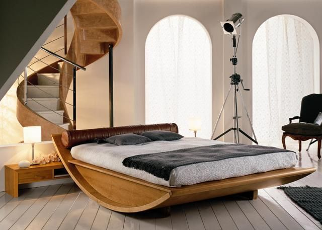Chambre a coucher moderne en bois chambre a coucher for Modele de chambre a coucher romantique